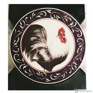 Other - NWOT Ceramic Rooster Coasters with Holder